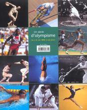 Un Siecle D'Olympisme ; Les Jo De 1896 A Nos Jours - 4ème de couverture - Format classique
