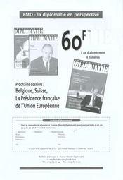 Revue Politique Et Parlementaire N.1006 ; Quinquennat : Réforme Ou Vi République - 4ème de couverture - Format classique
