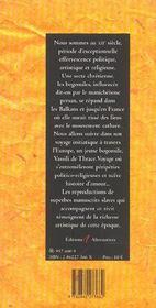 Vassili, Le Bogomil - 4ème de couverture - Format classique