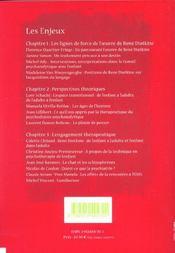 Les enjeux de la psychanalyse d'enfants - 4ème de couverture - Format classique