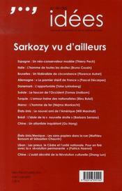 La vie des idées n.19 ; sarkozy vu d'ailleurs - 4ème de couverture - Format classique