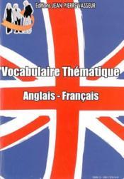 Vocabulaire thématique anglais/français - Couverture - Format classique