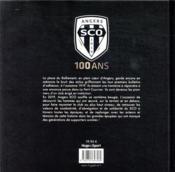 Angers SCO 100 ans en noir & blanc 1919-2019 ; livre officiel - 4ème de couverture - Format classique