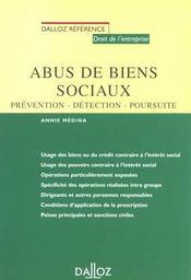 Abus de biens sociaux - Intérieur - Format classique