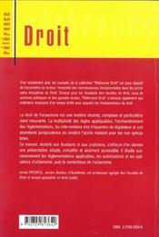 Droit De L'Urbanisme - 4ème de couverture - Format classique