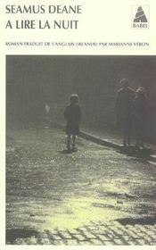 A Lire La Nuit Babel 709 - Intérieur - Format classique