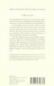 A Lire La Nuit Babel 709 - 4ème de couverture - Format classique
