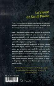 La vierge de small plains - 4ème de couverture - Format classique