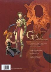 La Geste Des Chevaliers Dragons T.1 ; Jaina - 4ème de couverture - Format classique