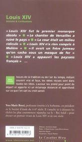 Louis XIV - 4ème de couverture - Format classique