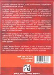 Comment resoudre vos conflits avec l'administration. administration fiscale. sec - 4ème de couverture - Format classique