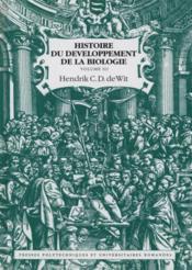 Histoire du developpement de la biologie - volume 3 - Couverture - Format classique