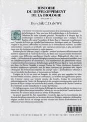 Hist.du develo biologi v3 - Couverture - Format classique