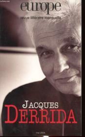 Revue Europe N.901 ; Jacques Derrida - Couverture - Format classique