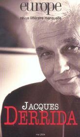 Revue Europe N.901 ; Jacques Derrida - Intérieur - Format classique