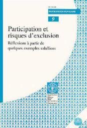Participation et risques d'exclusion ; reflexions a partir de quelques exemples saheliens - Couverture - Format classique