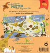 Je décore mon poster avec les gommettes ; les dinosaures - 4ème de couverture - Format classique