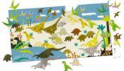 Je décore mon poster avec les gommettes ; les dinosaures - Couverture - Format classique