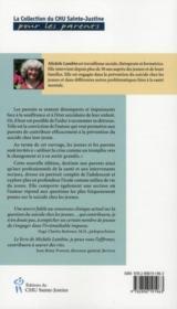 Aider à prévenir le suicide chez les jeunes (édition 2010) - 4ème de couverture - Format classique