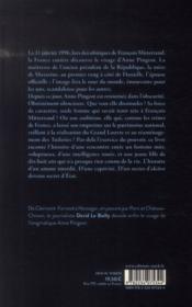 La captive de Mitterrand - 4ème de couverture - Format classique