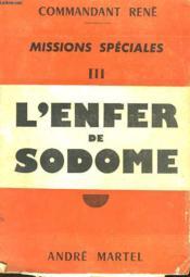 Missions Speciales - Iii - L'Enfer De Sodome - Couverture - Format classique