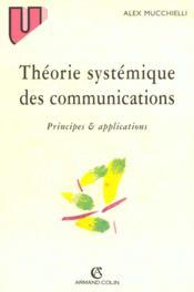 Theorie systemique des communications - principes & applications - Couverture - Format classique
