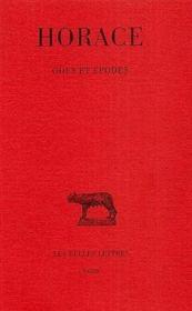 Odes et épodes - Couverture - Format classique