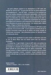 Les Partis Politiques En Occident Sociologie Historique Du Phenomene Partisan - 4ème de couverture - Format classique
