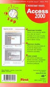 Assistant visuel access 2000 clic & zap - 4ème de couverture - Format classique