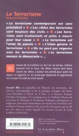 Le terrorisme - 4ème de couverture - Format classique