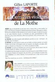 Dernieres violettes de la mothe (les) - 4ème de couverture - Format classique