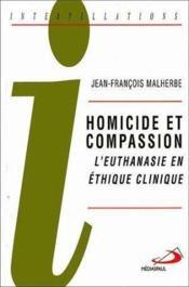 Homicide et compassion - Couverture - Format classique