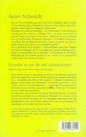 Goethe et un de ses admirateurs - 4ème de couverture - Format classique