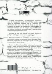 Le choc ; des deux Espagne - 4ème de couverture - Format classique