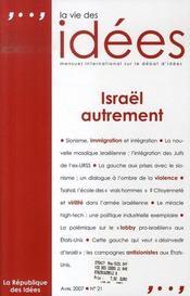 La vie des idées n.21 ; israël autrement - Intérieur - Format classique