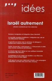 La vie des idées n.21 ; israël autrement - 4ème de couverture - Format classique