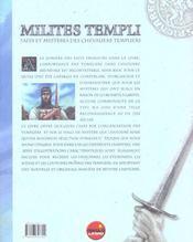 Milites Templis - 4ème de couverture - Format classique