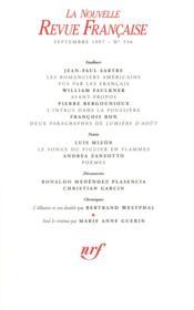 La Nouvelle Revue Francaise N.536 ; Septembre 1997 - Couverture - Format classique