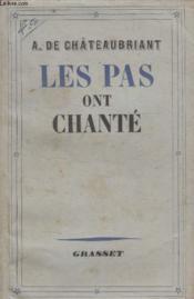 Les Pas Ont Chante. - Couverture - Format classique