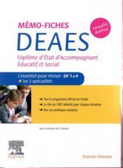 Mémo-fiches ; DEAES ; diplôme d'Etat d'accompagnant éducatif et social ; l'essentiel pour reviser (2e édition) - Couverture - Format classique