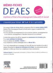 Mémo-fiches ; DEAES ; diplôme d'Etat d'accompagnant éducatif et social ; l'essentiel pour reviser (2e édition) - 4ème de couverture - Format classique