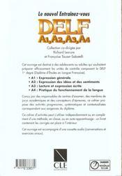 450 delf francais - 4ème de couverture - Format classique