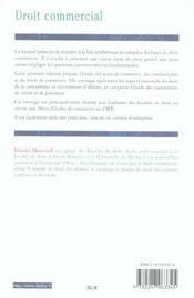 Droit commercial ; actes de commerce, commerçants, fonds de commerce, instruments de paiement et de crédit - 4ème de couverture - Format classique