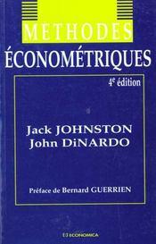 Methodes Econometriques - Intérieur - Format classique