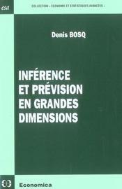 Inference Et Prevision En Grandes Dimensions - Intérieur - Format classique