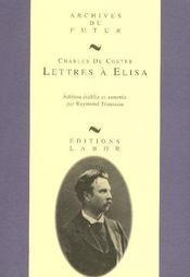 Lettres à Elisa - Intérieur - Format classique