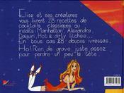 Elise et ses 28 cocktails - 4ème de couverture - Format classique