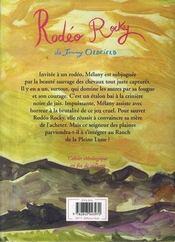 Le Ranch De La Pleine Lune T.2 ; Rodéo Rocky - 4ème de couverture - Format classique