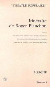 Itineraire de roger planchon - Couverture - Format classique