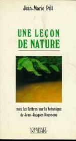Une lecon de nature - Couverture - Format classique